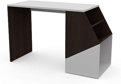 LEVIRA – Mesa con estantería, Mesa de Oficina, Escritorio ...