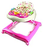 Bebemio Happy Zoo Farm Animals Baby Walker w/ Adjustable Height, Lights, Sounds (Pink)