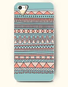 OOFIT Aztec Indian Chevron Zigzag Native American Pattern Hard Case for Apple iPhone 5 5S ( iPhone 5C Excluded ) Retro Tribe Aztec Chevron Pattern
