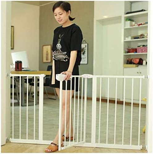 Household Fence Extra Wide Extra Tall and Wide Baby Safety Gate for Stairs Walk Through Easy Auto Close Fireplace Fence Bonus Kit Includes 4-Inch Extension Indoor Dog Fence