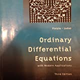 Ordinary Differential Equations with Modern Applications, N Finizio, 0536018529