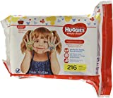 Health & Personal Care : HUGGIES Simply Clean Fragrance-Free Baby Wipes Refill Pack, 216 Count