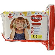 HUGGIES Simply Clean Fragrance-Free Baby Wipes Refill Pack, 216 Count