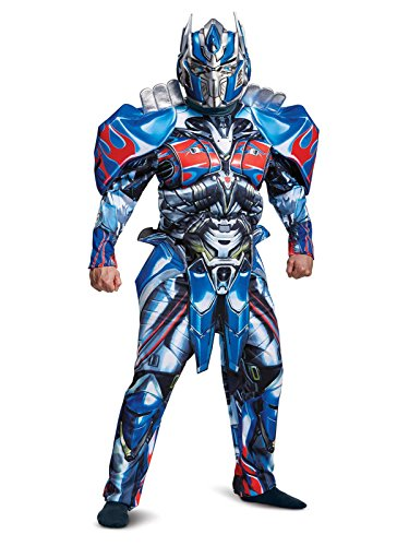 Disguise Men's Plus Size Optimus Prime Movie Deluxe Adult Costume, Blue, XX-Large -