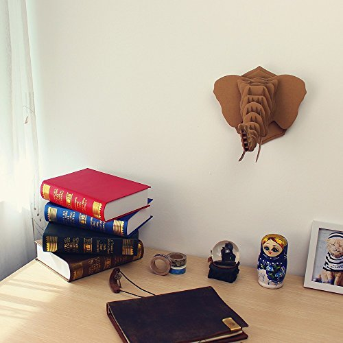 I'm Charmer Build Your Own Cardboard Elephant 3D Model Puzzle Wall Decor