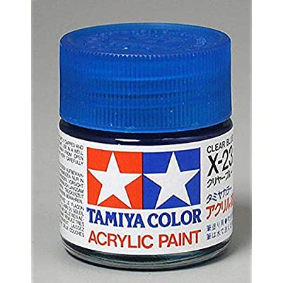 Tamiya America, Inc Acrylic X23 Gloss,Clear Blue, TAM81023: Toys & Games