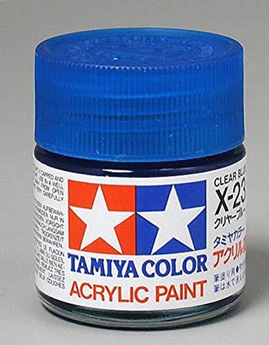 Tamiya America, Inc Acrylic X23 Gloss,Clear Blue, TAM81023