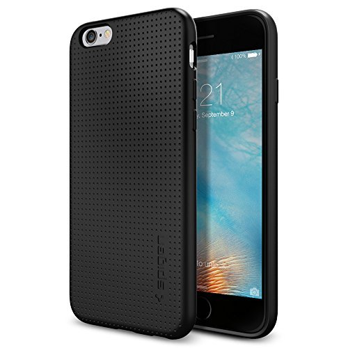 Spigen Schutzhülle für iPhone 6 / 6S Hülle Liquid Armor - Luftpolster-Technologie (Air Cushion Technology) - Tasche in schwarz [Black - SGP11751]