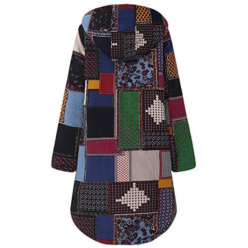 Casual Clearance Ladies Hooded Oversize Jacket La Fleece Overdose Abbigliamento Women Button lunga manica Coat Addensare Top Vintage Marina 1 Tasca AXPwydq
