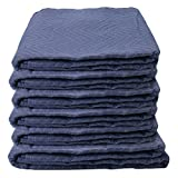 Moving Blankets (6-Pack) 72'' x 80'' - Econo Saver (21 lbs/6 blankets, Blue/Blue)