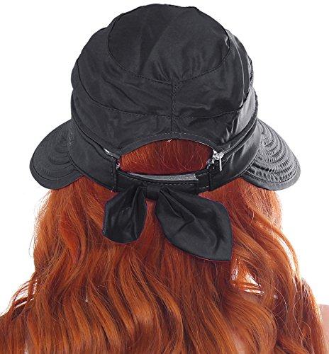 7aa709dc2022b Simplicity Women s UPF 50+ UV Sun Protective Convertible Beach Hat Visor  Black