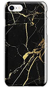 Black and Gold Marble case For iphone 8