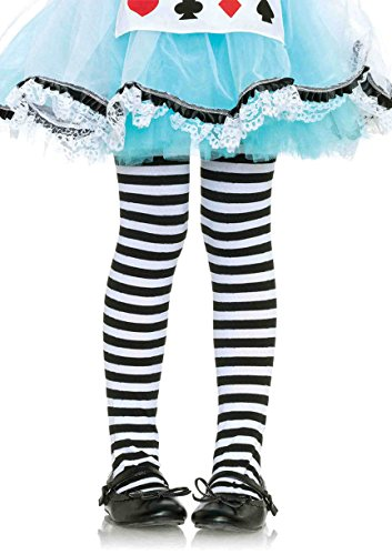 Leg Avenue Little Girl's Girl Stripe Tights Sockshosiery, black/white, ()