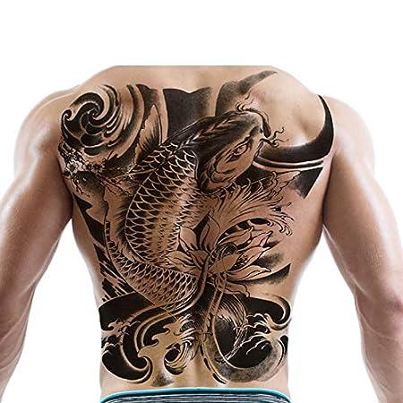 L-HAOMOUREN 26 Patrones Grandes Pegatinas de Tatuaje de Espalda ...