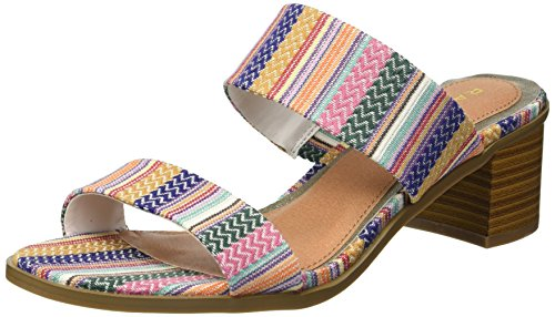 Rampage Women's Ram-Hatty Heeled Sandal, Summer Stripe, 10 M US