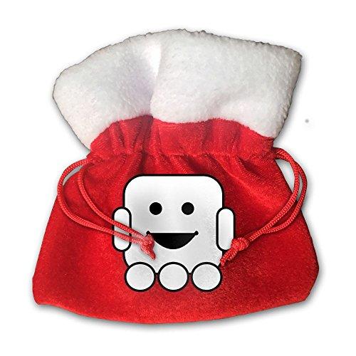 Cute Robot Cliparts Christmas Gift Bag Cotton Santa Bag With Drawstring Size 15 X 15 - Robots Clipart