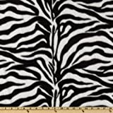 WinterFleece Black/White Zebra Fabric By The Yard