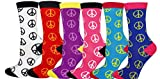 Poly blend crew socks give great comfort and there are variety designs to to choose from. Comes in value pack of 6 with multi-color.