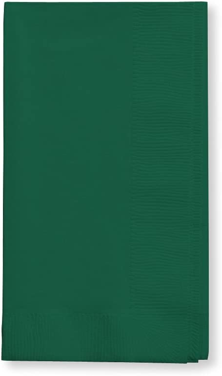 Creative Converting Touch of Color 2-Ply 50 Count Paper Dinner Napkins, Hunter Green - 673124B