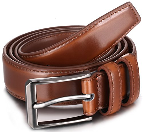 Gallery Seven Mens belt - Genuine Leather Dress Belt - Classic Casual Belt in gift box - 2 Pack - Burnt Umber & Black - Size 36 (Waist: 34) by Gallery Seven (Image #4)