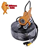 Vanxse® Underwater Fish Camera Sony CCD 800TVL 24Pcs White LED 100 Degree view Fish Finder video Camera (30Meters Cable)