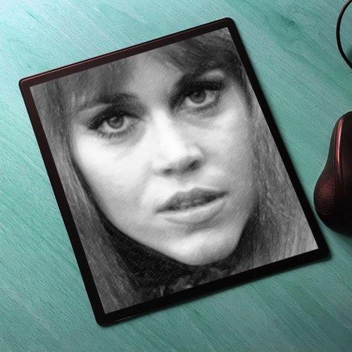 Seasons Jane Fonda - Original Art Mouse Mat #js004