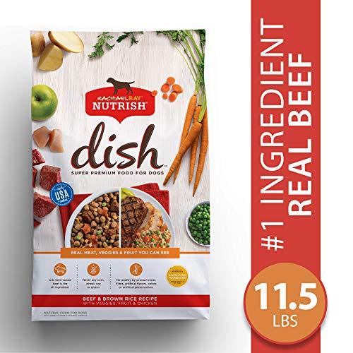 Rachael Ray Nutrish Dish Natural Premium Dry Dog Food, Beef & Brown Rice Recipe With Veggies, Fruit & Chicken, 11.5 Lbs