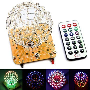 Spherical Spectrum Cube LED Flash Kit Electronic Learning Kits - Arduino Compatible SCM & DIY Kits Arduino Compatible Kits & DIY Kits - (Red) - -