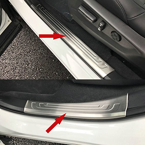 Beautost Fit For Honda 2017 2018 NEW CR-V CRV Stainless Steel Inside Door Sill Scuff Plate Guard Cover Trims (Silver) Door Sill Trim
