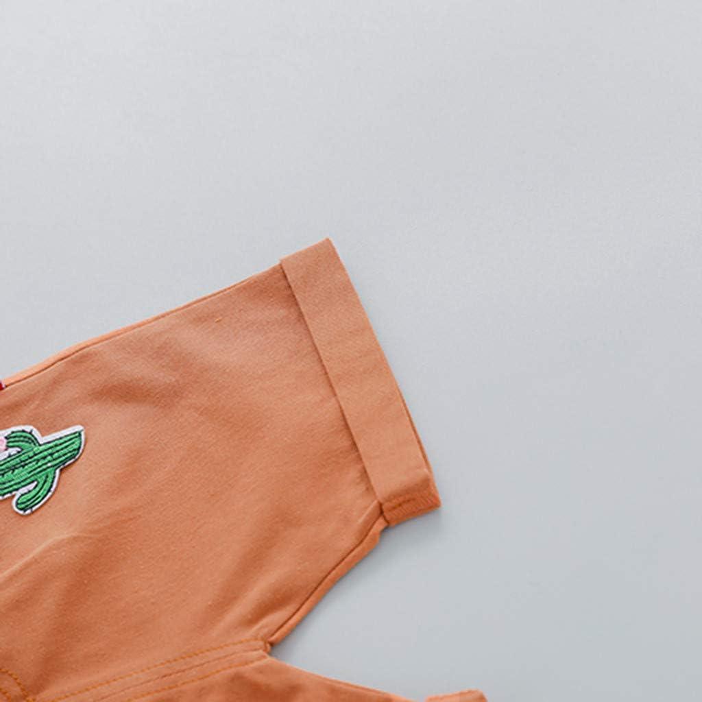 Bambino Maglietta Manica Corta Cactus Pantaloncini Tuta Maschio Bimbo Animale 0-3 Anni Completo Bambini Estate Primavera Due Pezzi Set Tute Cotone Ragazzo Neonato