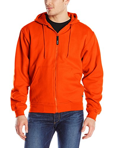 Berne Men's Original Hooded Sweatshirt Thermal Lined, Blaze Orange, X-Large/Regular