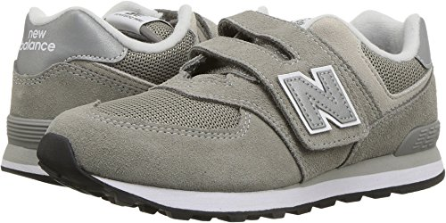 New Balance Hook - New Balance Boys' 574v1 Essentials Hook and Loop Sneaker,  Grey/Grey, 13 W US Little Kid
