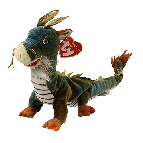 TY Beanie Baby - THE DRAGON Chinese Zodiac (10.5 inch) -MWMTs Stuffed Animal Toy