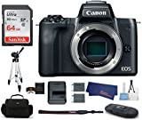 Canon EOS M50 Mirrorless Digital Camera Body -Black (USA Warranty) Bundle, Includes: 64GB SDXC Class 10 Memory Card + Full Size Tripod + Spare Battery + More Review