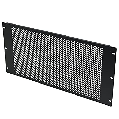 Navepoint 2U Blank Rack Mount Panel Spacer With Venting For 19-Inch Server Network Rack Enclosure Or Cabinet Black 400426372