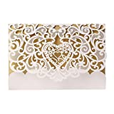 Adarl Laser Cut Invitations Cards, Hollow Floral Design with Blank Printable Paper and Envelopes,for Wedding invitations, Bridal Shower, Engagement, Birthday, Baby Shower (Pack of 10)-21