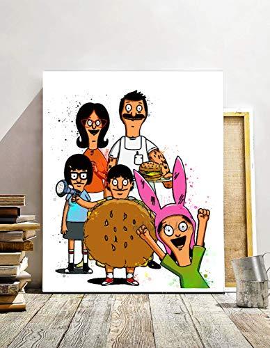 (Bob's Burgers, Bob and Linda Inspired Digital Print, Contemporary Art Print, Watercolor Painting Effect, Illustration, Nursery Decor, 8 X 10 Unframed)