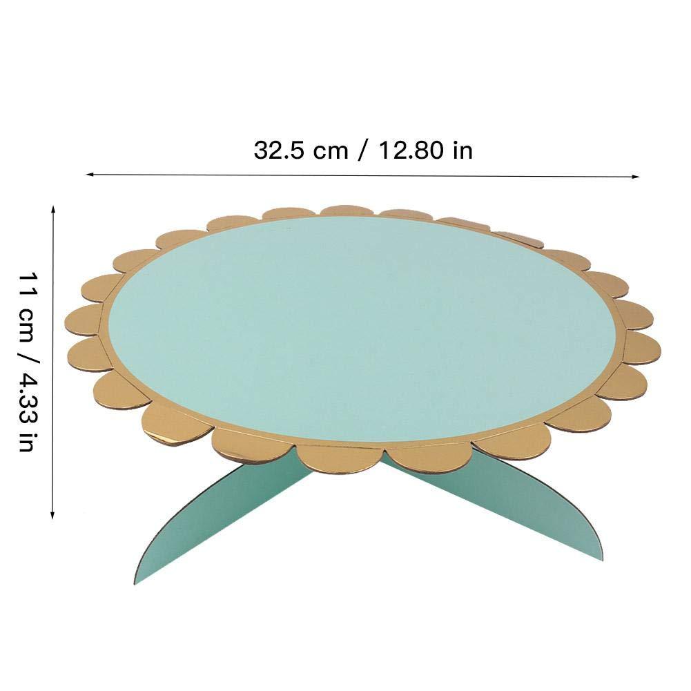 1# AUNMAS 1 Niveau Carton Cupcake Stand Jetable Dessert Cupcake Titulaire Daffichage G/âteau Stand pour Baby Showers Mariages F/ête danniversaire Accessoires