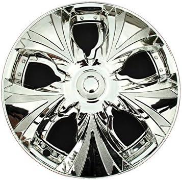 ProTec [pro. Tec] Spinning Wheel rotatoria Tapacubos cromo 14 ...