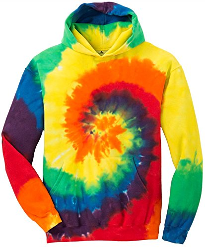 Joe's USA Koloa Surf Co.(tm) Youth Colorful Tie-Dye Hoodies - Youth Medium Rainbow