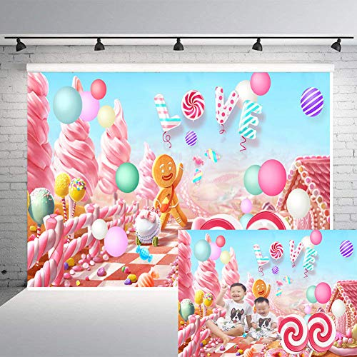 Art Studio Love Wedding Themed Photography Backdrops Cartoon Candy Kingdom Photo Studio Props Booth Baby Shower Photo Background Birthday Party Vinyl 7x5FT ()
