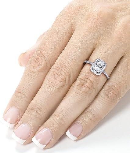 Kobelli Radiant-cut Moissanite Engagement Ring 1 2/5 CTW 14k White Gold