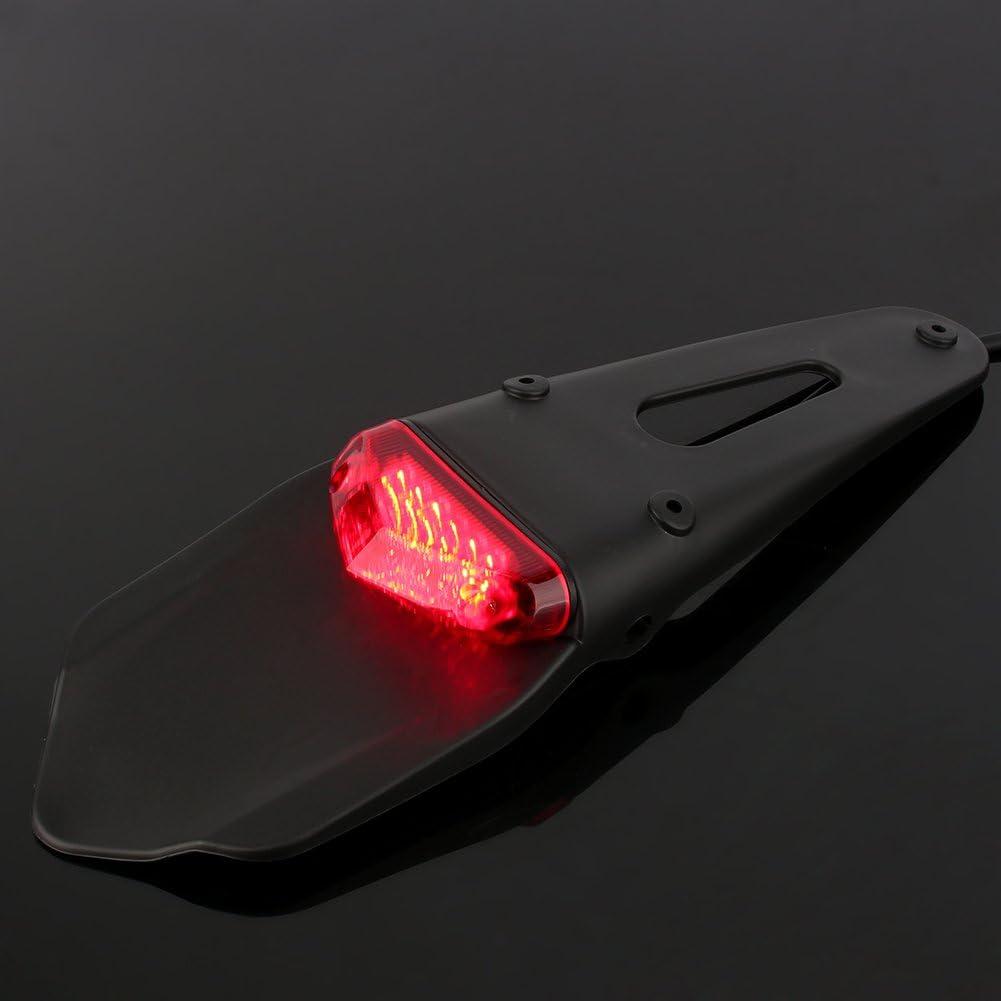 Universal Motorcycle Fender Brake Stop Rear Taillight ATV Dirt Bike LED Lamp DH Qiilu Motorcycle Brake Tail Light
