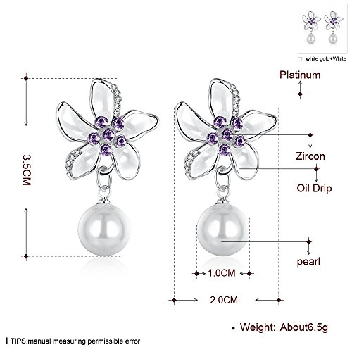 JewelleryClub Plaqué cristal Swarovski Elements fleur perle pour les femmes