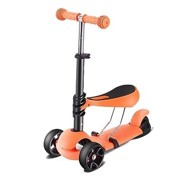 Patinete Scooter de Tres Ruedas para niños, Altura 4 Archivos Scooter de Patada Ajustable con