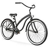 Firmstrong Bella Fashionista Single Speed Beach Cruiser Bicycle, 26-Inch, Matte Black/Black Rims