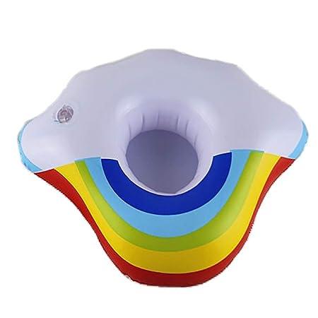 Ouken Hinchable Arco Iris Wolke Soporte para Bebidas Nadando ...