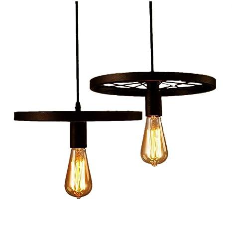 Lights & Lighting 2pcs Pendant Lights Iron Industrial Loft Light Fixtures Art Decoration Living Room Bar Coffee E27 Edison Bulbs Hanging Lamp Factory Direct Selling Price