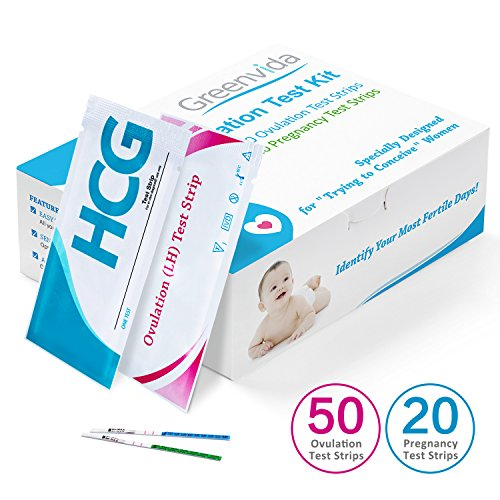 50 Ovulation Test Strips and 20 Pregnancy Test Strips Kit, Combo Ovulation Predictor Kit Pack, Ovulation Tracker, High Sensitivity & Accurate Result for Women Home Testing (50LH+20HCG)