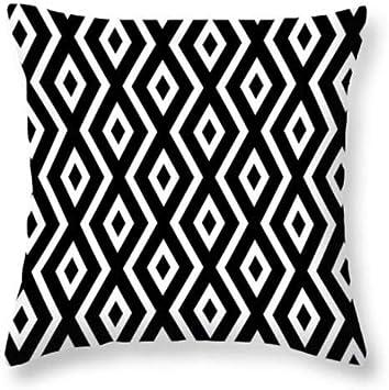 Image ofcaogsh - Funda de cojín con Estampado 3D para sofá, diseño geométrico de Lino, Cuidado cómodo de la Cintura, Aproximadamente 18 x 18 Pulgadas @ Geometric20_2 Fundas de Almohada